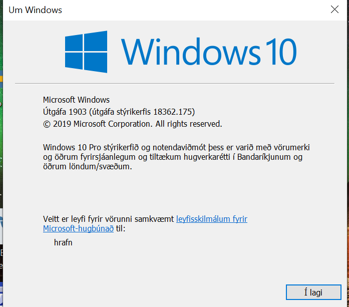 Cumulative Update KB4503293 Windows 10 v1903 build 18362.175 - June 11  Windows Update - Page 6 - Windows 10 Forums
