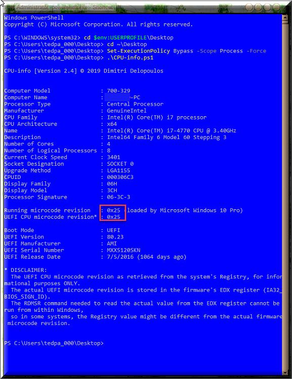 KB4497165 Intel microcode updates for Windows 10 v1903