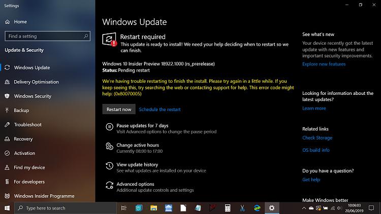 New Windows 10 Insider Preview Fast+Skip Build 18922 (20H1) - June 19-restart.png