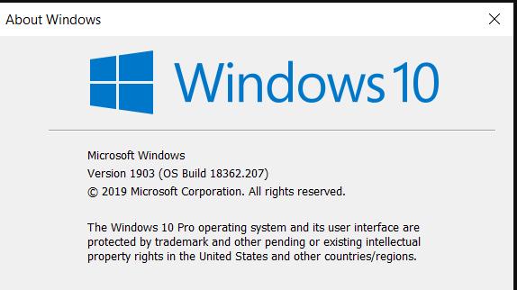 Cumulative Update KB4501375 Windows 10 v1903 build 18362.207 - June 27-image.png