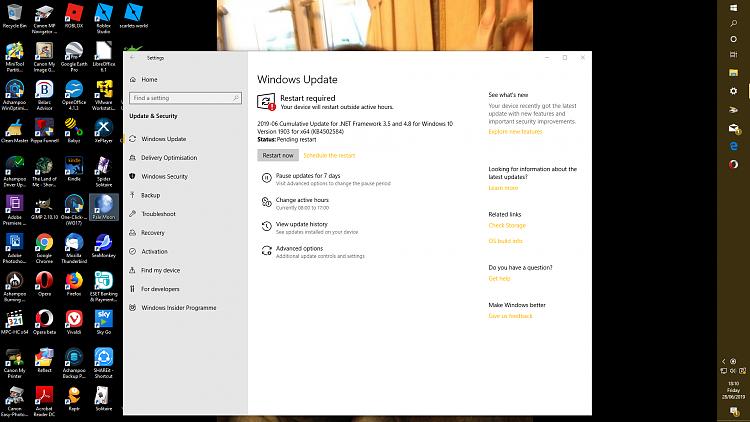 Cumulative Update KB4501375 Windows 10 v1903 build 18362 207
