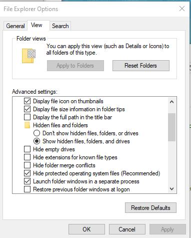 Click image for larger version.  Name:FileExplorerOptions.png Views:128 Size:16.8 KB ID:240068
