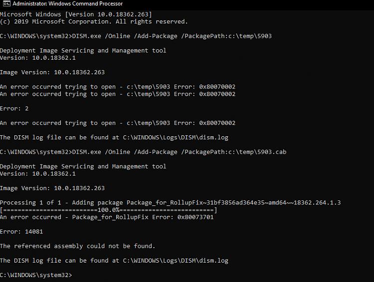 Cumulative Update KB4505903 Windows 10 v1903 build 18362.264 - July 19-image.png