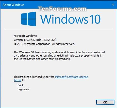 Cumulative Update KB4505903 Windows 10 v1903 build 18362.266 - July 23-18362.266.jpg
