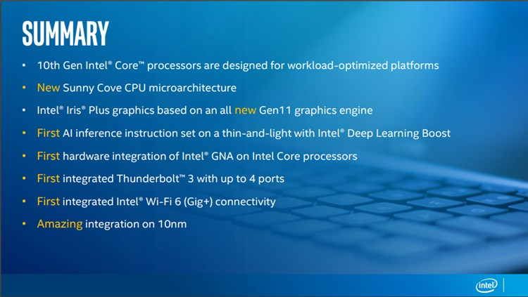 Intel Launches First 10th Gen Intel Core Ice Lake Processors