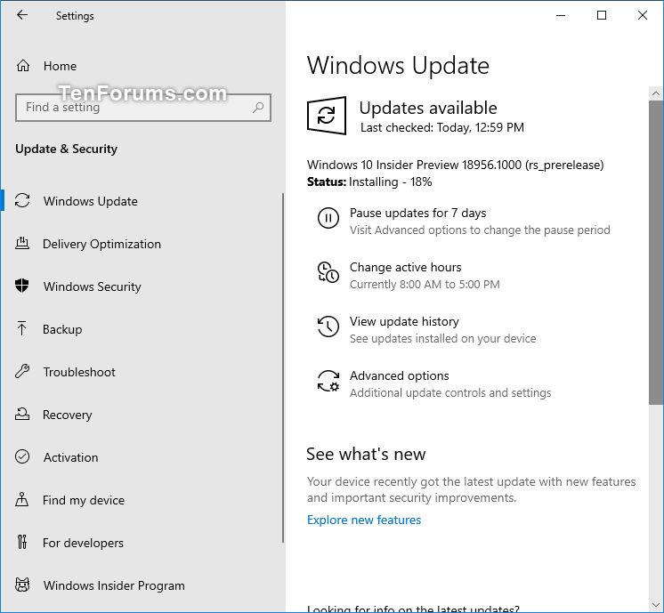 New Windows 10 Insider Preview Fast+Skip Build 18956 (20H1) - August 7-18956.png