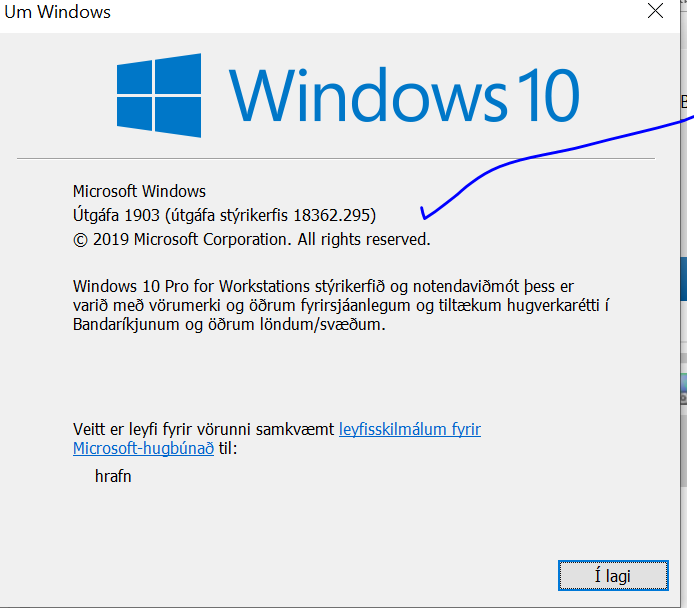 Cumulative Update KB4512508 Windows 10 v1903 build 18362.295 - Aug. 13-295.png