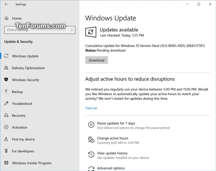 New Windows 10 Insider Preview Fast+Skip Build 18965 (20H1) - Aug. 21-18965.1005.jpg