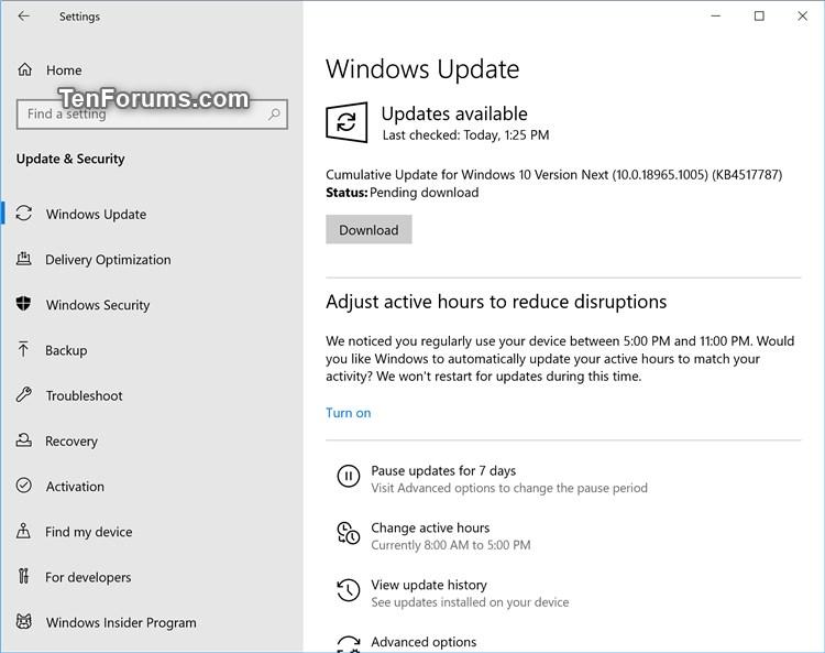 Cumulative Update KB4517787 Windows 10 Insider build 18965.1005 Aug.22-18965.1005.jpg