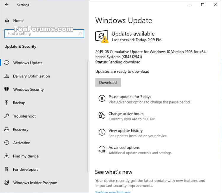 Cumulative Update KB4512941 Windows 10 v1903 build 18362.327 - Aug. 26-kb4512941.jpg
