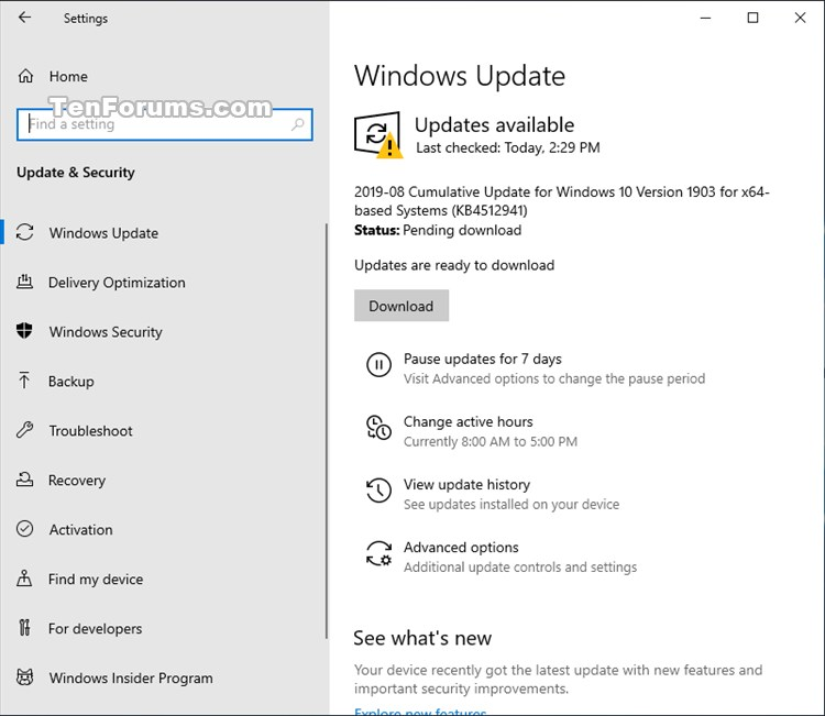 Cumulative Update KB4512941 Windows 10 v1903 build 18362.327 - Aug. 26-kb4512941.jpg