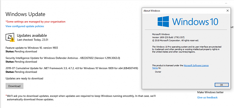 Microsoft now auto updating Windows 10 version 1803 and