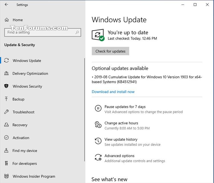 Cumulative Update KB4512941 Windows 10 v1903 build 18362.329 - Aug. 30-kb4512941.jpg