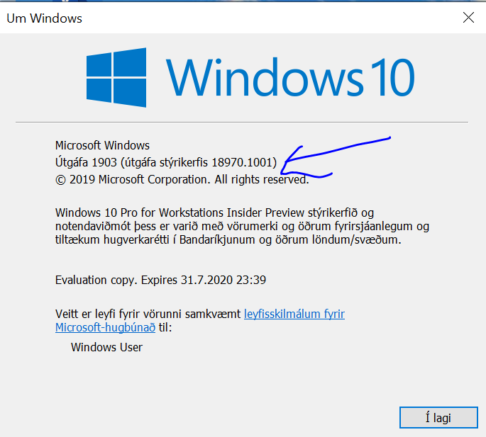 New Windows 10 Insider Preview Fast+Skip Build 18970 (20H1) - Aug. 29-winver0.png