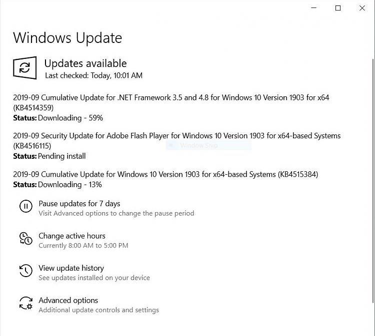 Cumulative Update KB4517245 Windows 10 v1909 Build 18363.329 - Sept. 5-updatekb4515384.jpg