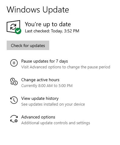 Cumulative Update KB4517245 Windows 10 v1909 Build 18363.329 - Sept. 5-18363.356noredmessage.png