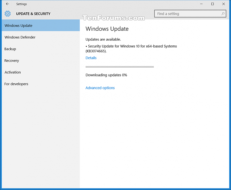 New update package on Windows Update for PC build 10240 today-kb3074665.png