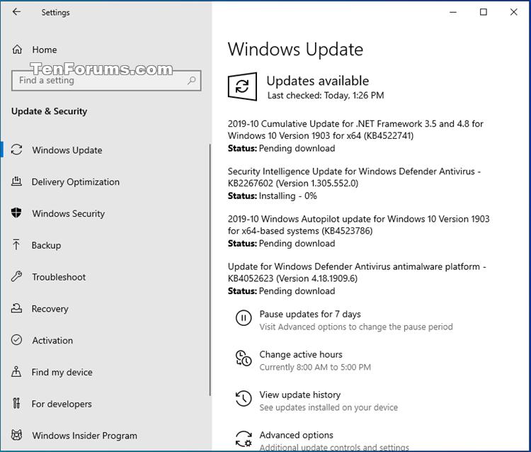 Cumulative Update KB4522355 Windows 10 v1903 build 18362.449 - Oct. 24-kb4523786.png
