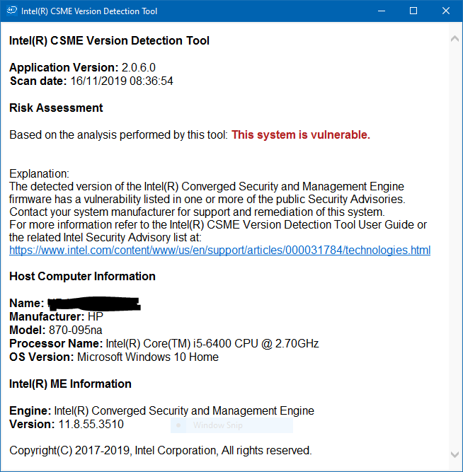 Intel CSME, SPS, TXE, DAL, and Intel AMT 2019.1 QSR Advisory - July 1-image.png