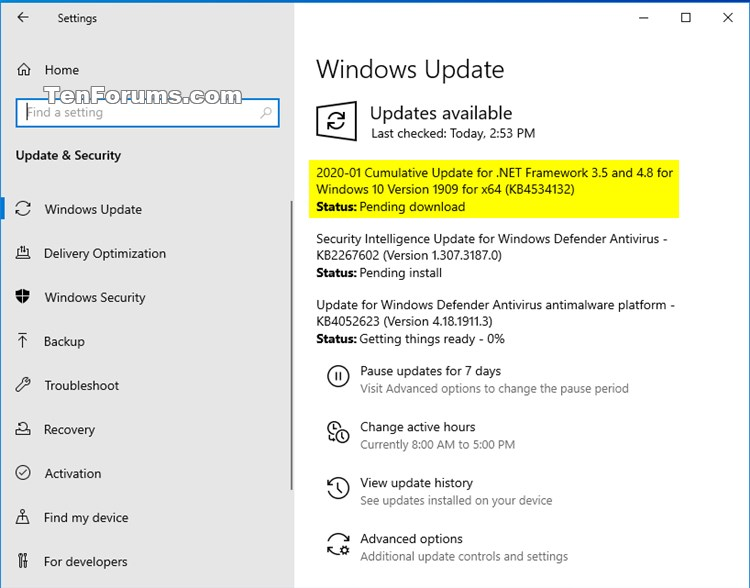 KB4534132 Cumulative Update .NET Framework 3.5, 4.8 Windows 10 Feb. 11-kb4534132.jpg