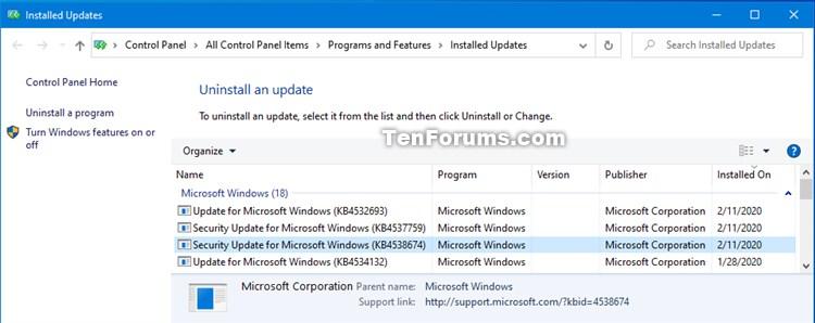 KB4538674 Servicing Stack Update Windows 10 v1903 and v1909 - Feb. 11-kb4538674.jpg