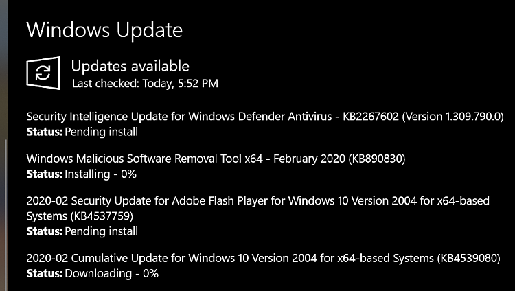 KB4539080 for Windows 10 Insider Preview Slow Build 19041.84 - Feb. 11-2020-02-11_17h53_03.png