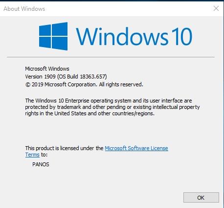 KB4538674 Servicing Stack Update Windows 10 v1903 and v1909 - Feb. 11-version-1909-os-build-18363.657-.jpg