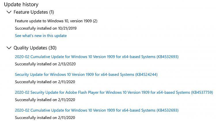 KB4532693 CU Win 10 v1903 build 18362.657 & v1909 build 18363.657-update.jpg