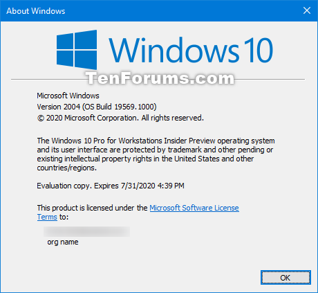 Windows 10 Insider Preview Fast Build 19569.1000 - February 20-winver_19569.png