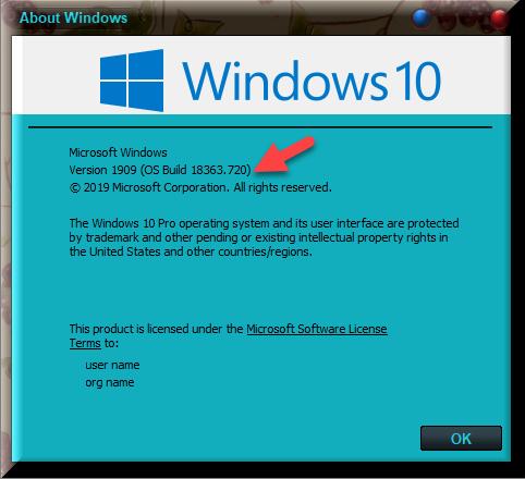 KB4551762 CU Win 10 v1903 build 18362.720 and v1909 build 18363.720-winver-after-installing-kb4551762.png