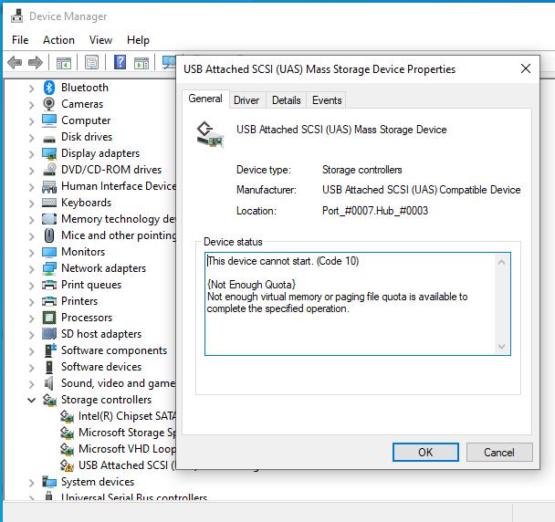 KB4541738 for Windows 10 Insider Preview Slow Build 19041.153 March 13-uaspstorbug1.png