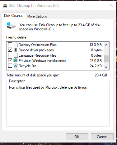 Windows 10 Insider Preview Fast Build 19592.1001 - March 25-19597diskcleanup.png