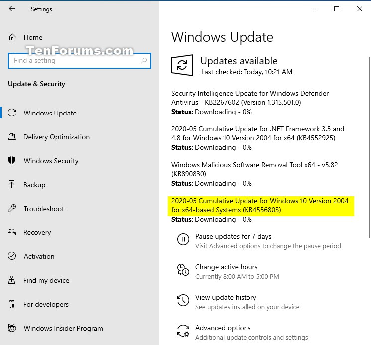 KB4556803 Windows 10 Insider Preview Slow & RP Build 19041.264 May 12-kb4556803.jpg