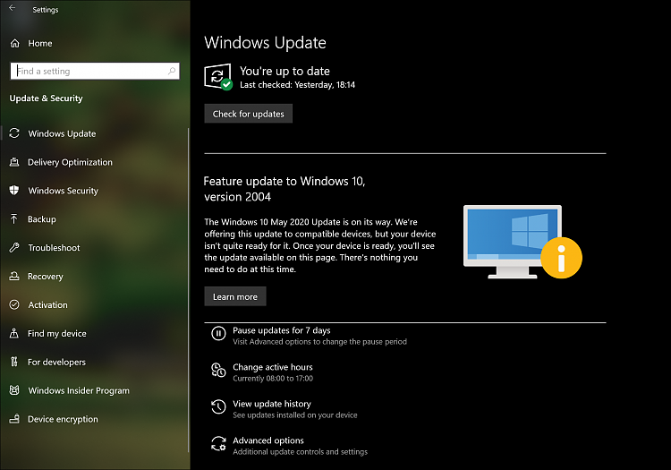 How to get the Windows 10 May 2020 Update version 2004-device-not-ready-notice.png