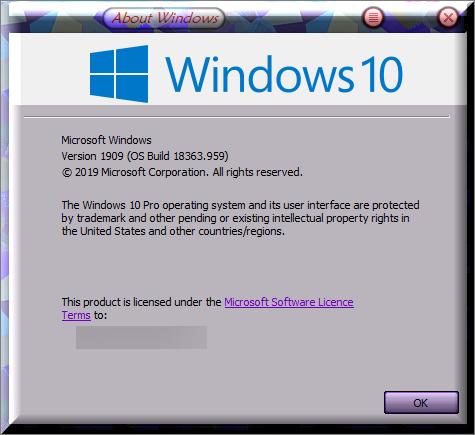 KB4565483 CU Win 10 v1903 build 18362.959 and v1909 build 18363.959-winver-after-installing-kb4565483.png