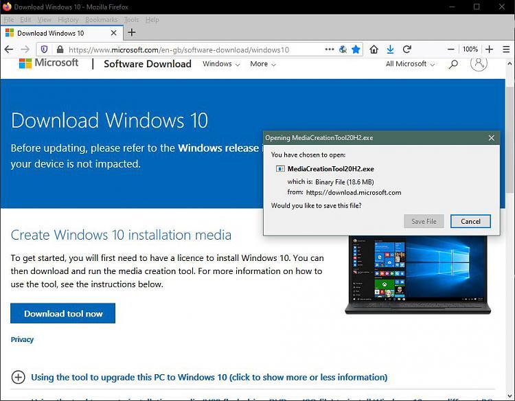 How to get the Windows 10 October 2020 Update version 20H2-mediacreationtool202h.jpg