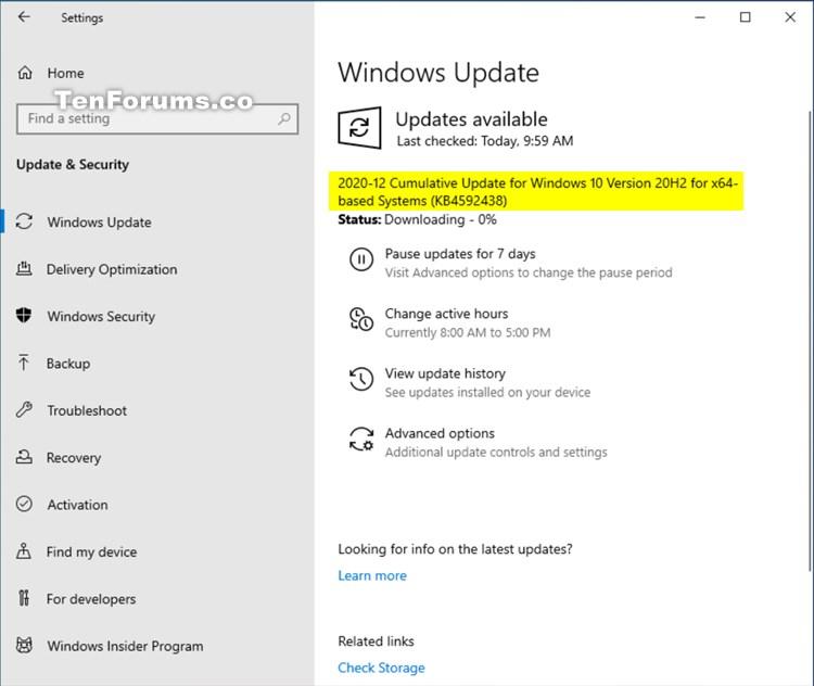 KB4592438 CU Windows 10 v2004 build 19041.685 and v20H2 19042.685-kb4592438.jpg