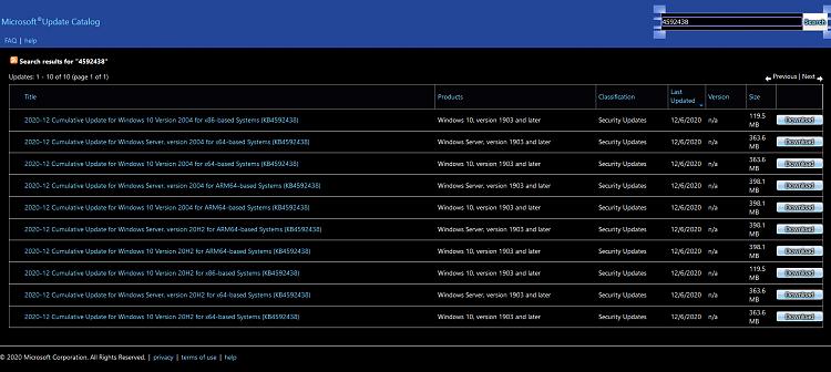 KB4592438 CU Windows 10 v2004 build 19041.685 and v20H2 19042.685-kb4592438.png