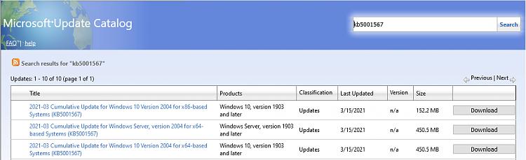 KB5000802 CU Windows 10 v2004 build 19041.867 and v20H2 19042.867-image.png