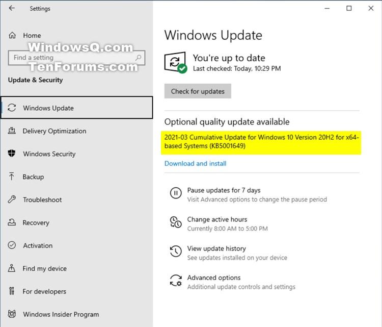 KB5001649 CU Windows 10 v2004 build 19041.870 and v20H2 19042.870-kb5001649.jpg