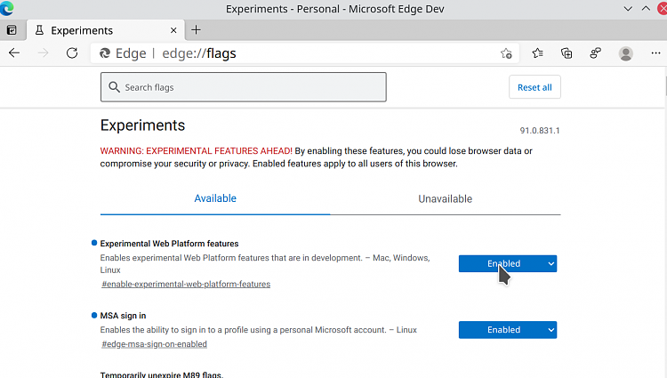 You can now sign-in and sync favorites with Microsoft Edge on Linux-screenshot_20210324_094519.png