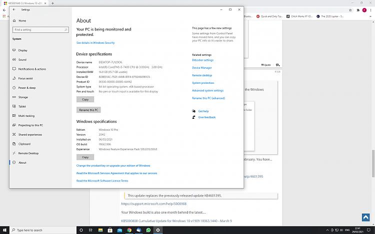 KB5001649 CU Windows 10 v2004 build 19041.870 and v20H2 19042.870-screenshot-1-.png