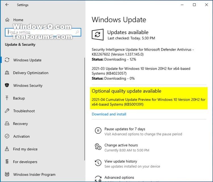 KB5001391 CU Windows 10 v2004 build 19041.964 and v20H2 19042.964-kb5001391.jpg