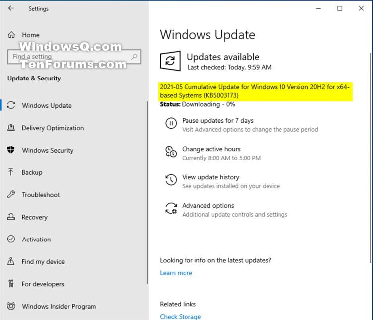 KB5003173 CU Windows 10 2004 19041.985, 20H2 19042.985, 21H1 19043.985-kb5003173.jpg