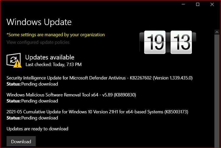 KB5003173 CU Windows 10 2004 19041.985, 20H2 19042.985, 21H1 19043.985-image.png