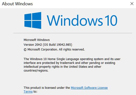 KB5003173 CU Windows 10 2004 19041.985, 20H2 19042.985, 21H1 19043.985-winver-12-may-2021.png