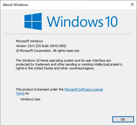 KB5000736 Featured update Windows 10 version 21H1 enablement package-winver.jpg