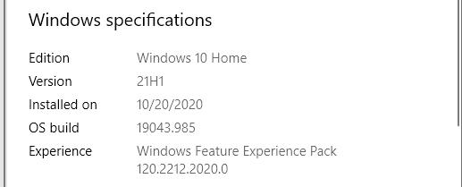 KB5000736 Featured update Windows 10 version 21H1 enablement package-winver2.jpg