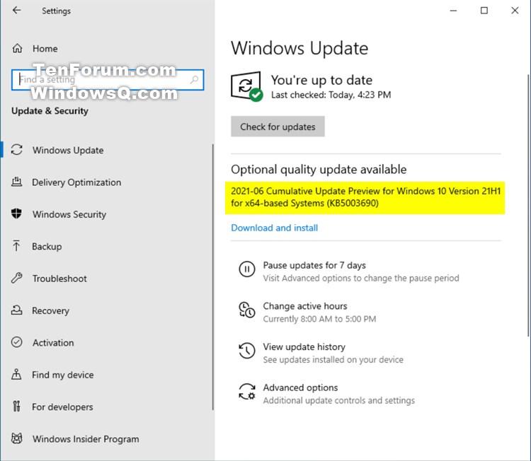 KB5003690 Windows 10 2004 19041.1081, 20H2 19042.1081, 21H1 19043.1081-kb5003690.jpg