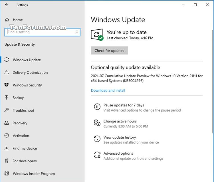 KB5004296 Windows 10 2004 19041.1151, 20H2 19042.1151, 21H1 19043.1151-kb5004296.jpg